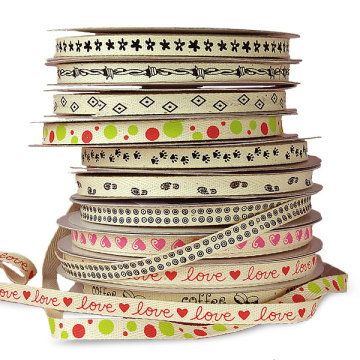White backround tape with personal pattern prints