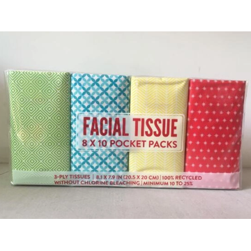 Pocket facial tissue skin-friendly