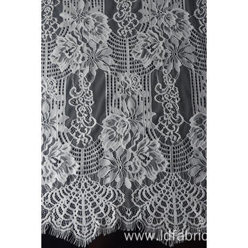 100% Nylon Panel Lace Fabric Design-C