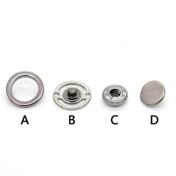 Wholesale Circle Hollow Metal Double-Sided Snap Button