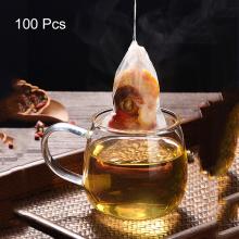 100Pcs Disposable Tea Filter Bags Empty Drawstring Seal Filter Teabags For Loose Leaf Herb Tea Bag Bolsas De Papel 8X10 cm