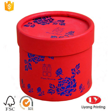 Luxury round paper wedding gift packaging box