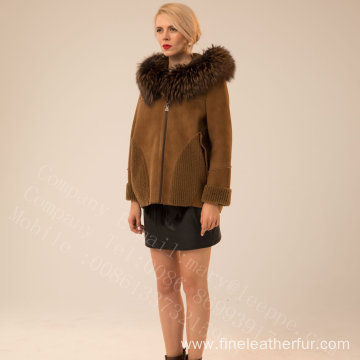 Kopenhagen Fur Hooded Short Jacket For Lady