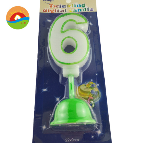 Wholesale happy birthday candle party number candle custom