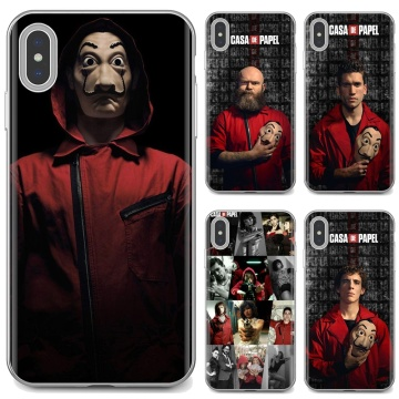 For Huawei Y6 Y5 2019 For Xiaomi Redmi Note 4 5 6 7 8 Pro Mi A1 A2 A3 6X 5X 7A Money Heist House Paper TV-Show Soft Skin Cover