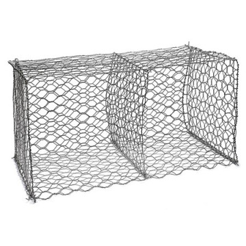 Flood control wire twisted weave Hexagonal gabion