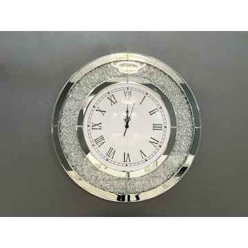 Round crushed diamond Clock