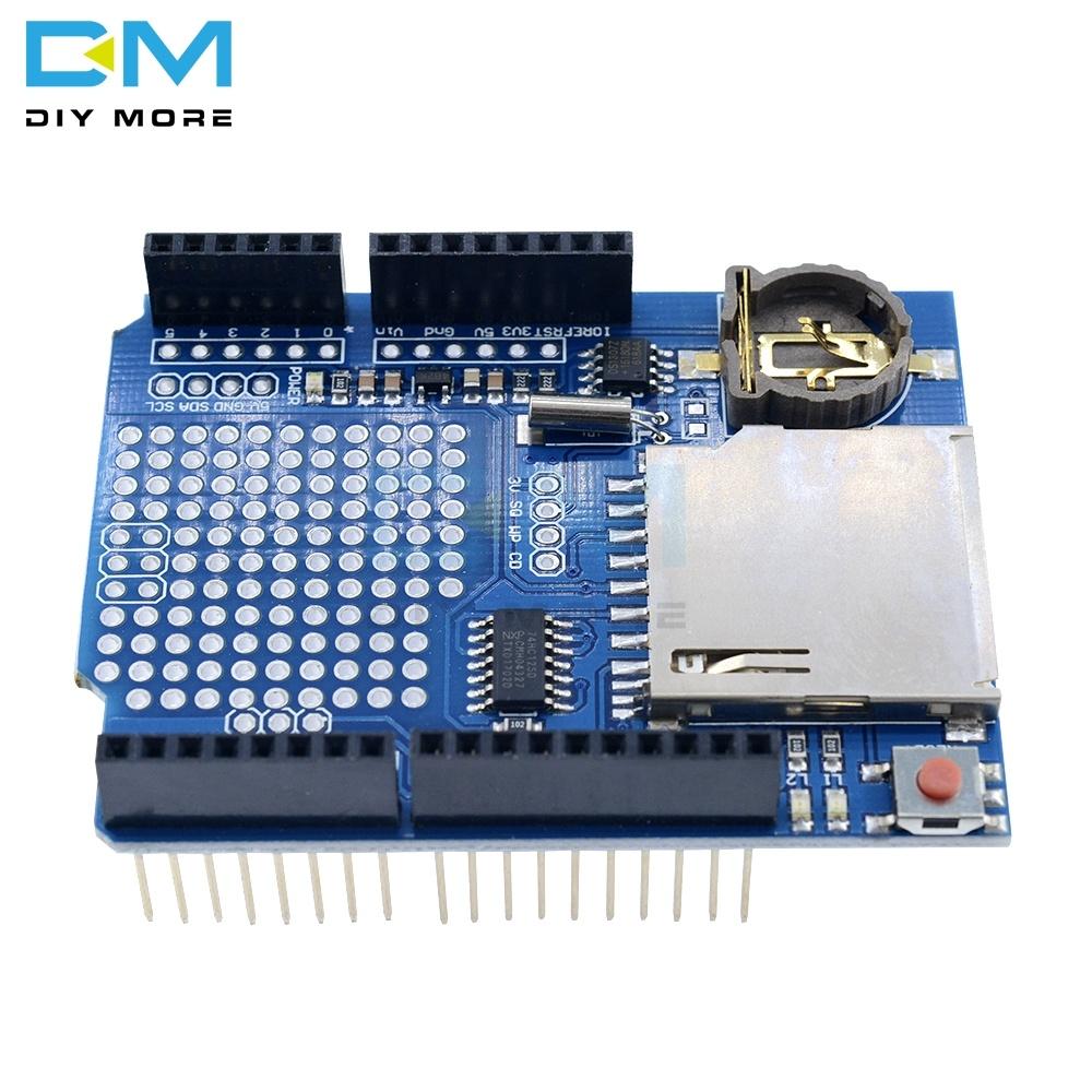 New Data Logger Module Logging Recorder Shield V1.0 For Arduino UNO SD Card Slot One Data Logging Shield CR1220 3V Not Included