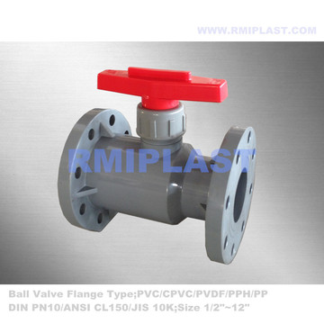 ANSI CPVC Ball Valve Flange Connect