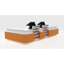 Thermal Transfer Wood-Grain Checkout Counter