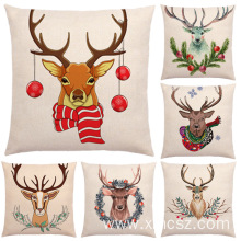 New Deer Theme Cute Cotton Linen Popular Cushion Cover