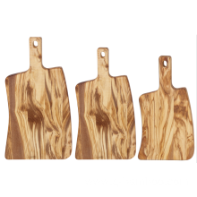 Irregularity wooden chopping board with handle