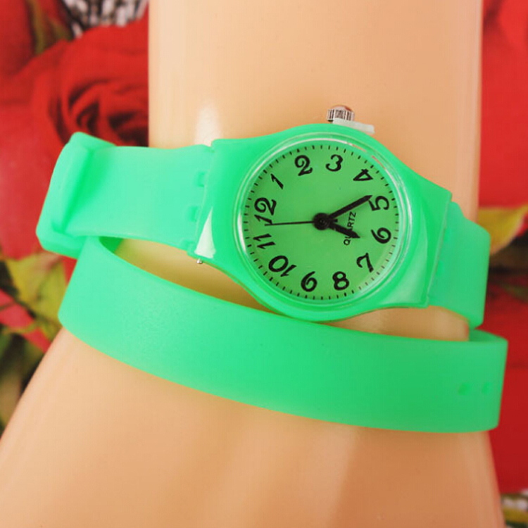 Long Strap Plastic Silicone Watches