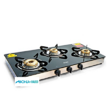 Glen 3 Forged Burners Glass Gas Stove