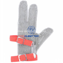 Three Fingers Steel Mesh Gloves