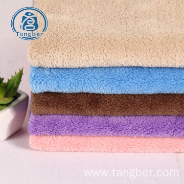 Long Pile Sherpa 100% Polyester Coral Fleece Fabric