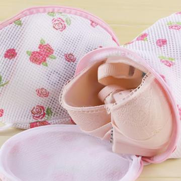 1 PC Floral Color Clothes Washing Machine Laundry Bags Washing Hosiery Saver Protect Women Bra Mesh Net Wash Bag Bathroom Tools