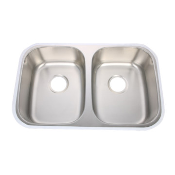 SS Kitchen Basin Double Bowl