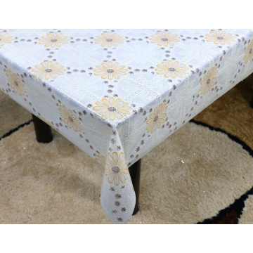 Printed pvc lace tablecloth by roll picnic