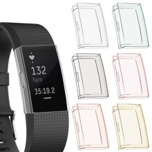 For -Fitbit Charge 2 tpu protective case for smart watch band accessories N0HC