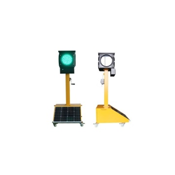 Led Solar Portable Four Sided Led Traffic Light