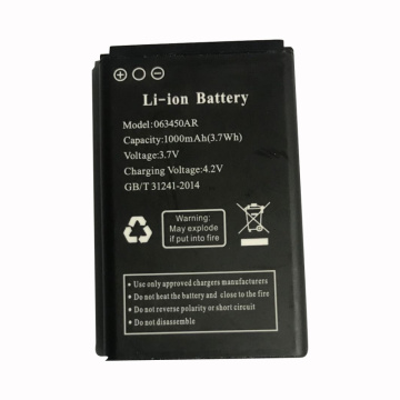 063450 1000mAh 3.7V Li-ion Battery for Cell Phone