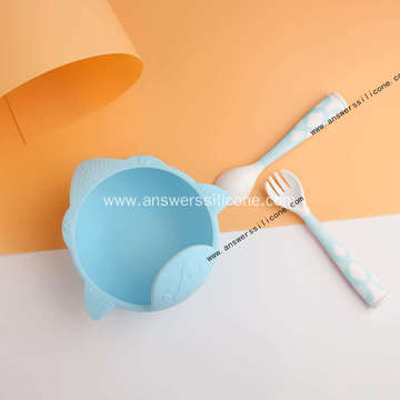 Soft silicone food feeding spoon set for baby