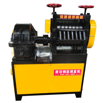 Straight thread steel straightening machine