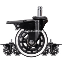 2.5 inch office chair caster wheel with lock