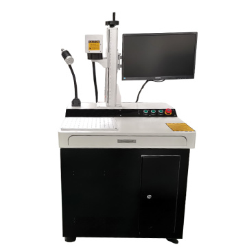 cnc desktop 30w metal plastic fiber laser marking machine