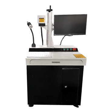 Quality assurance Desktop CNC laser marking machine 50w on ID card