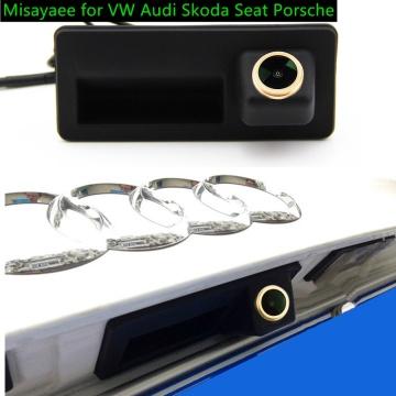 Misayaee HD Car Rear Veiw Camera Trunk Handle for VW Passat Tiguan Touareg Lavida Golf Jetta Skoda Rapid Octavia Yeti Audi A4 A3