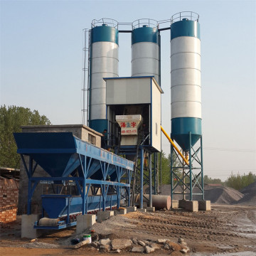 Central control concrete batching plant 25m3/h