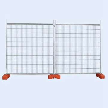 Galvanized temporary fence or movable fence