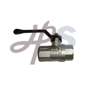 Nickel plated full port brass ball valve