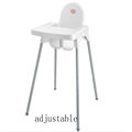 Baby plastic djustable dining chair High Chair