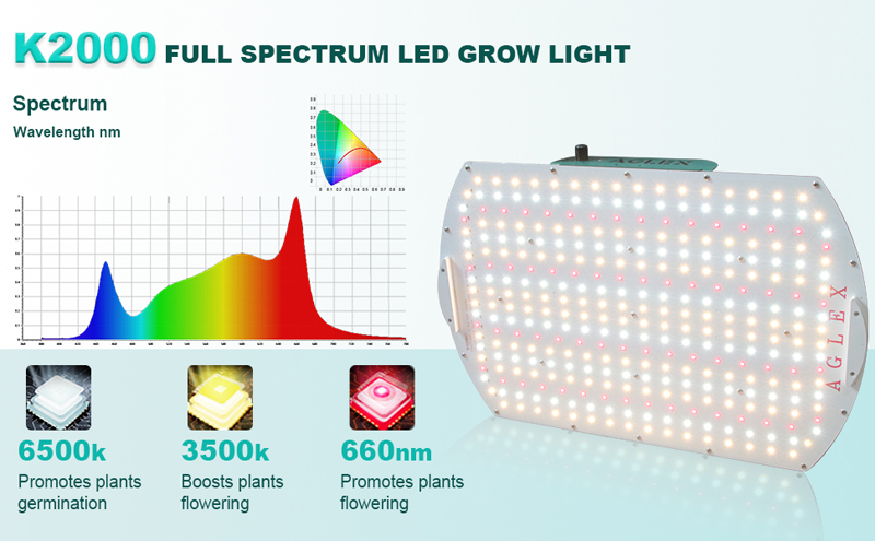 full spectrum K2000 grow light