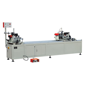 Aluminum two head corner crimping machine