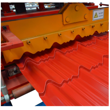 Step glazed tile steel roll formers machine