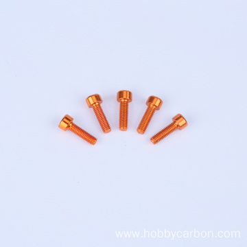 colorful M3 M4 M6 M8 anodized aluminum bolt
