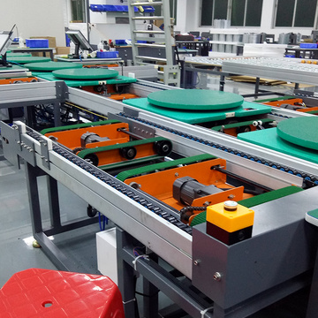 LED Lamp Speed Chain Conveyor Assembly Line