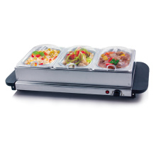 Buffet Server/ Hotplate with 3-Sections 200 Watt