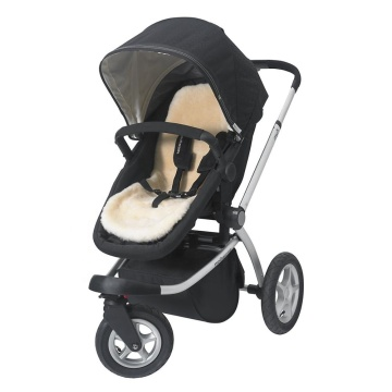 Sheepskin stroller liner for infant baby carrier