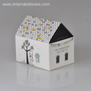 House Shape Christmas Gift Boxes For Child Shoe
