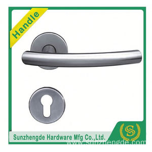 SZD STH-117 Building Construction Materia Stainless Steel Door Handle With Escutcheon Square Rose with cheap price