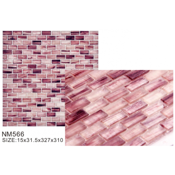 Lovely pink elegant matte glass mosaic tiles