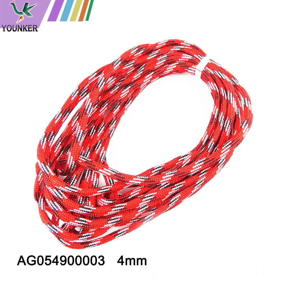 4mm Mixed Color Bracelet Braided Umbrella Rope