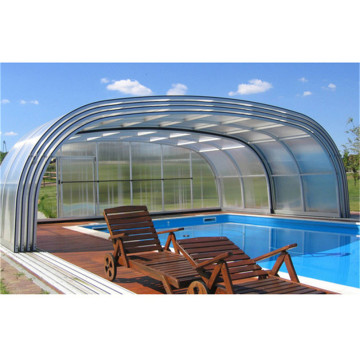 Screen Enclosure Stain Glass Roof for Pools Swimming Pool Tent