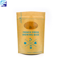 Printed Brown Kraft Paper Stand Up Pouches Wholesale