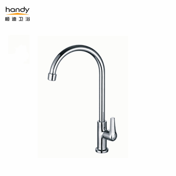 Chrome-plated Brass Kitchen Faucets with rotatable outlet